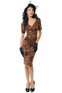 1940's Style Sheba Fitted Leopard by Unique Vintage